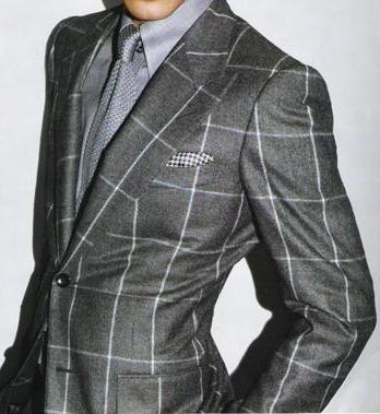 Classic Grey Striped Business Suit